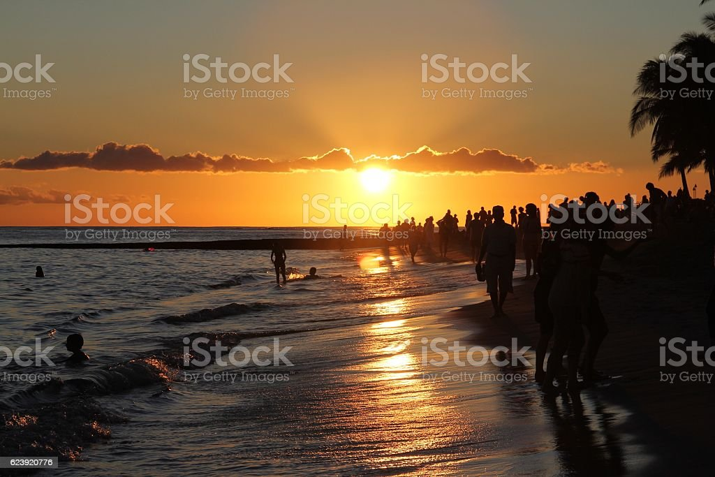 Goodnight Sun stock photo