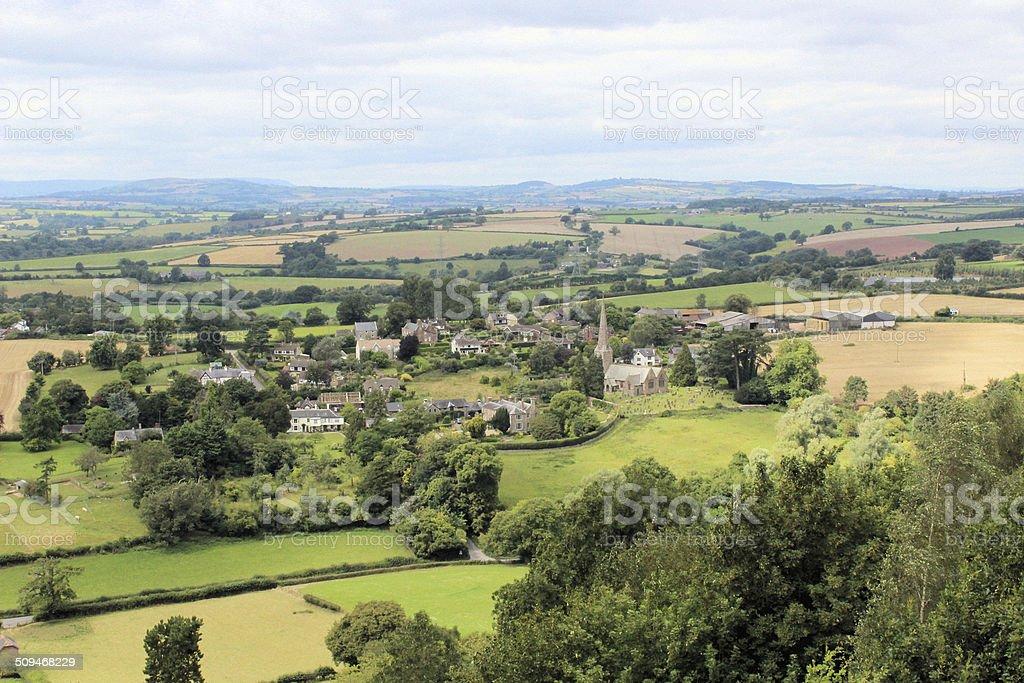 Goodrich village stock photo