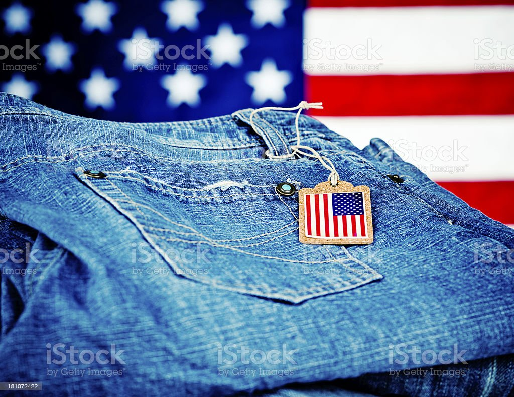 Goods Made in America stock photo