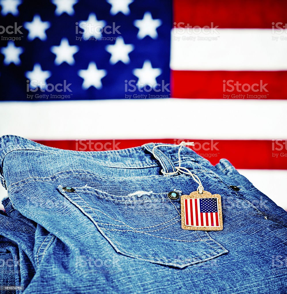 Goods Made in America royalty-free stock photo