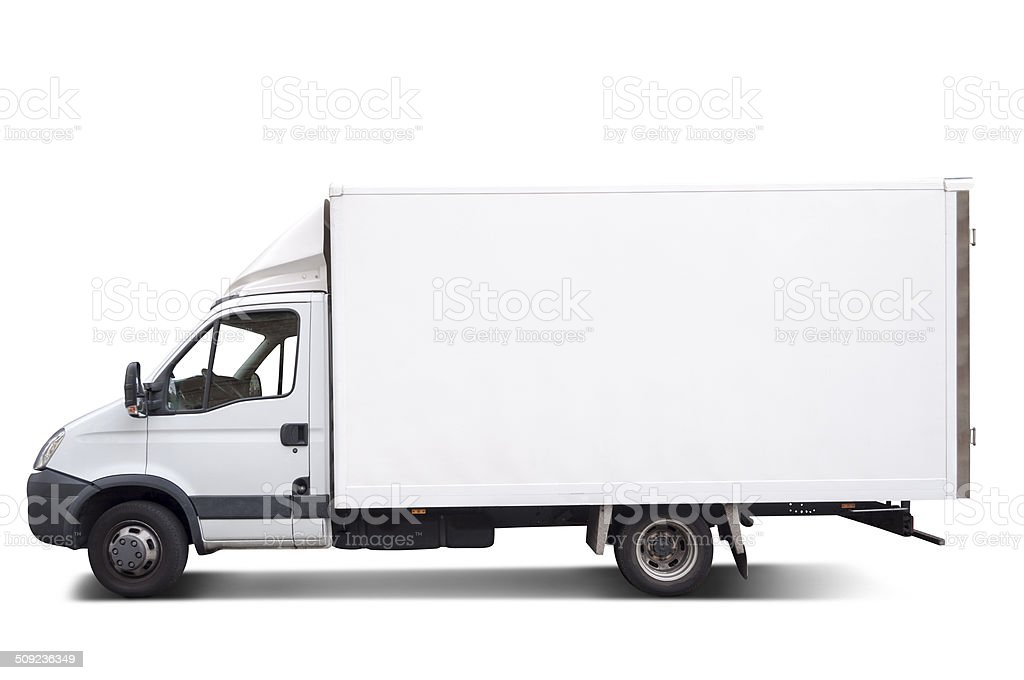 Goods truck stock photo
