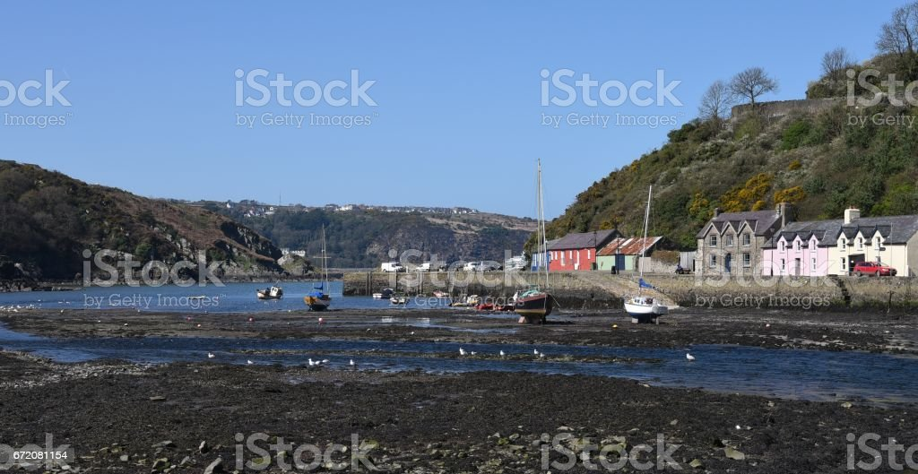 Goodwick Harbour, Pembrokeshire, Wales, UK stock photo