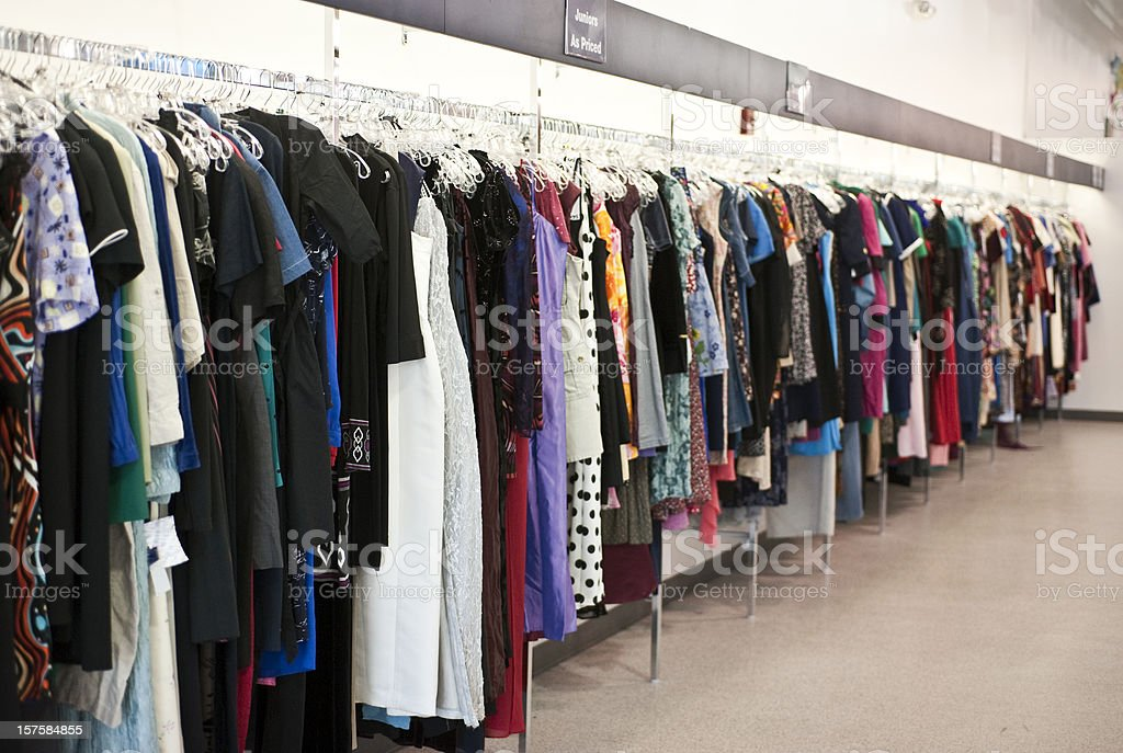 Goodwill Clothing Store stock photo