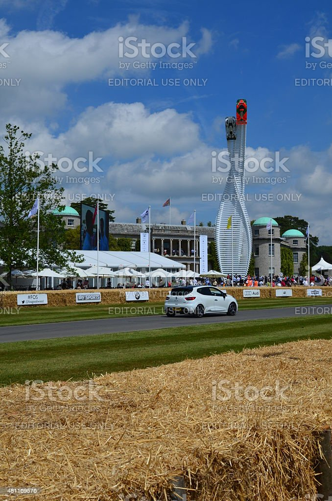 Goodwood race circuit and the 2015 Festival of Speed. stock photo
