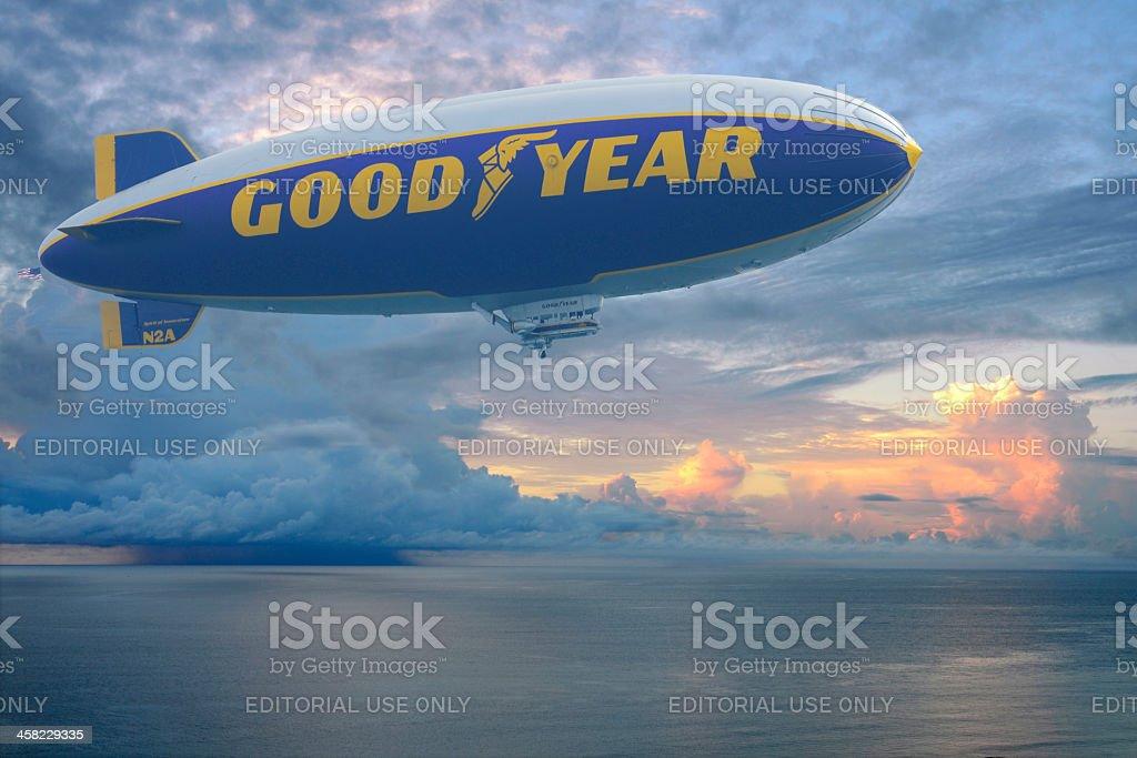 Goodyear Blimp royalty-free stock photo