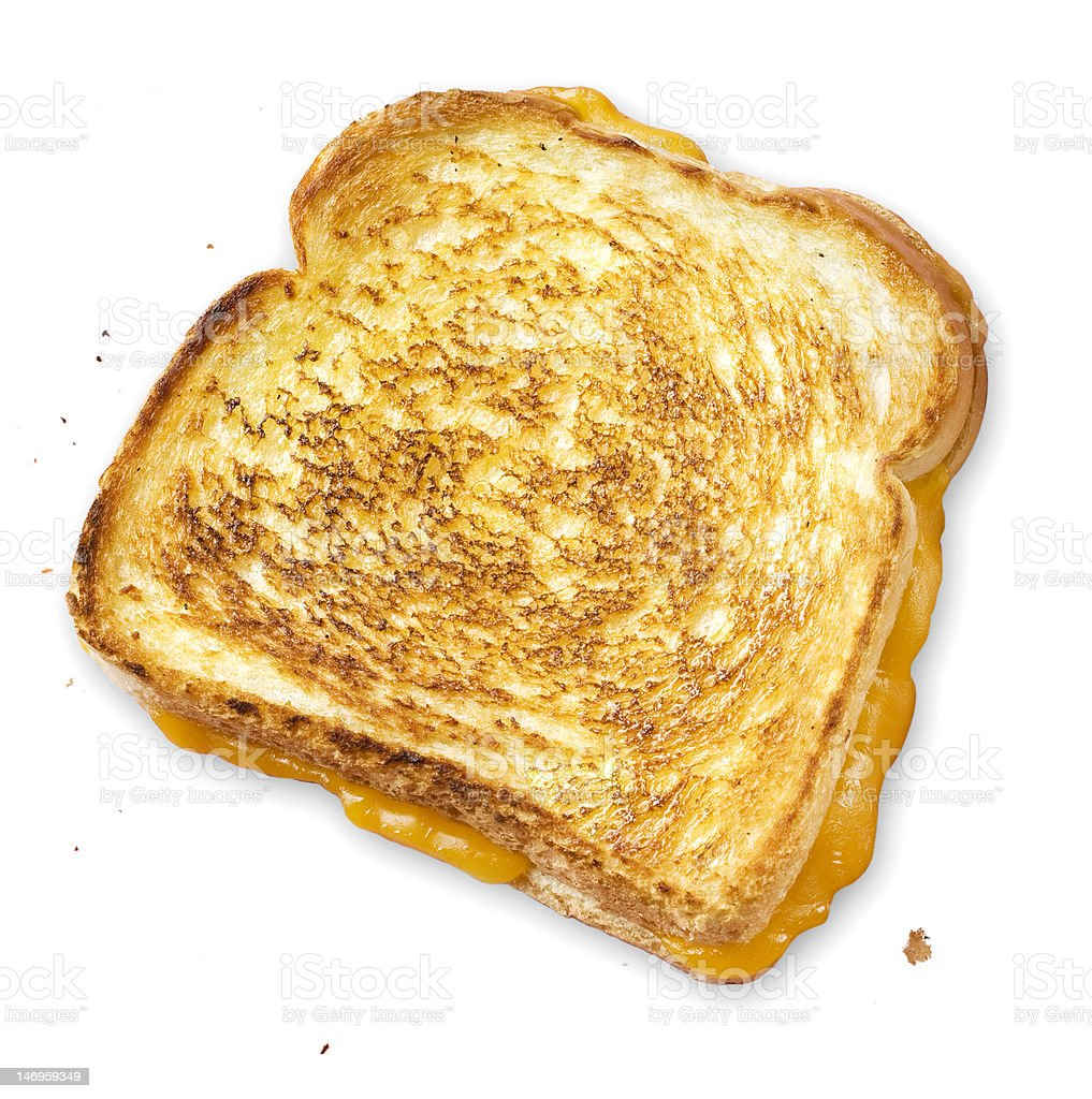 Gooey Grilled Cheese stock photo