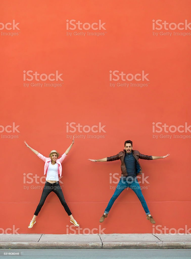 Goofing around stock photo