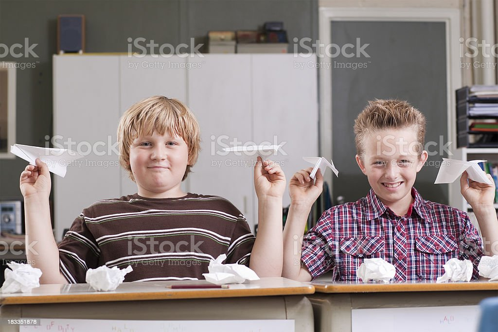 Goofing Off In Class royalty-free stock photo