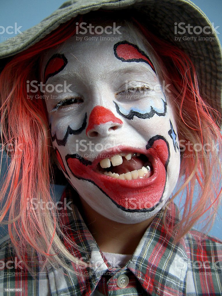 Goofy Clown stock photo