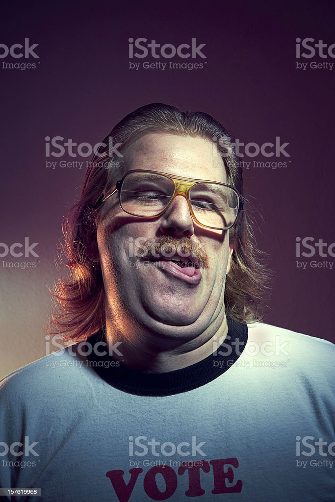 Goofy Guy Portrait stock photo