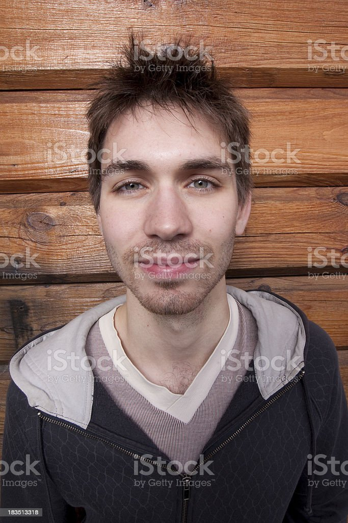 Goofy Looking Young Man stock photo