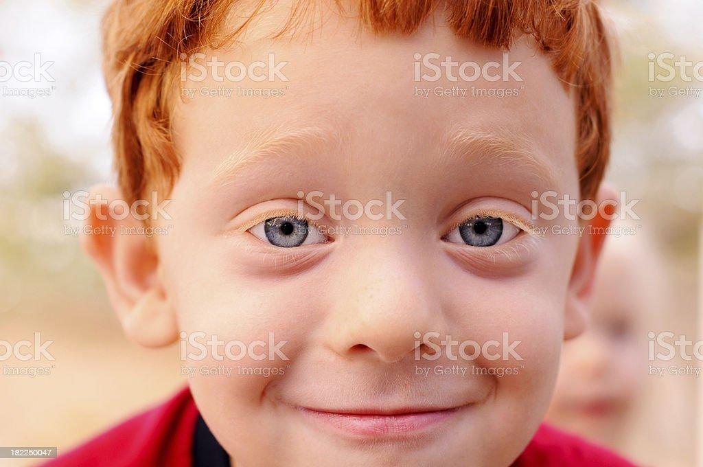 Goofy Redhead Boy royalty-free stock photo