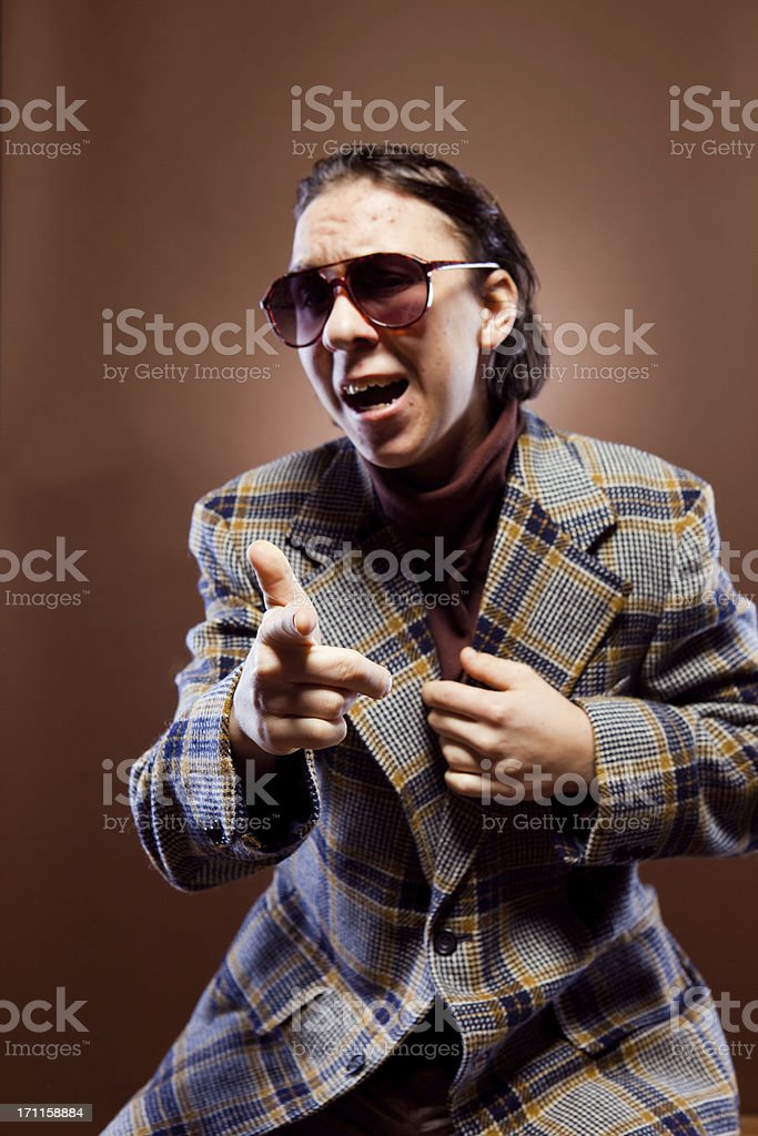 Goofy Retro Businessman stock photo