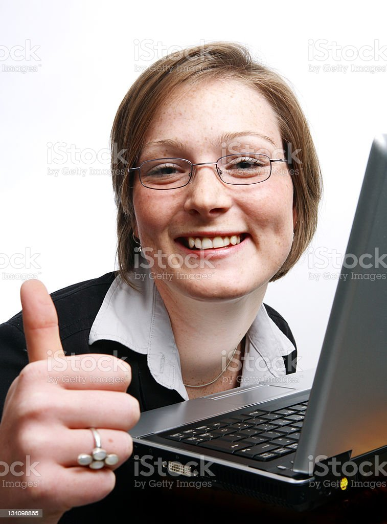 Goofy thumbs-up royalty-free stock photo
