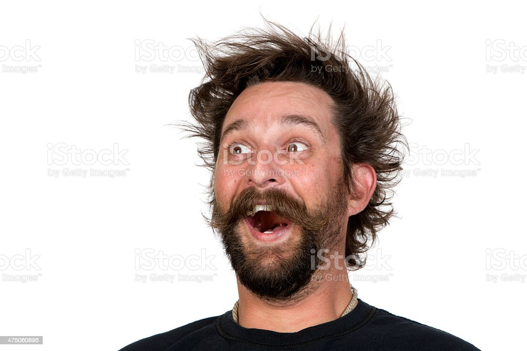 Goofy young man stock photo