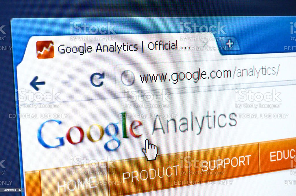 Google Analytics webpage on the browser royalty-free stock photo
