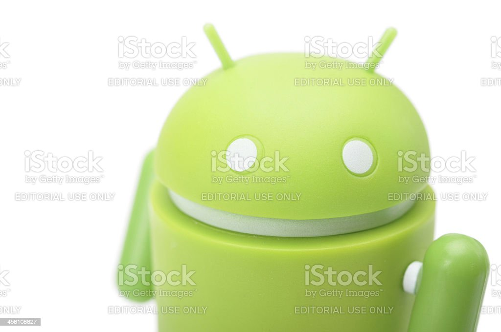 Google Android phone character royalty-free stock photo