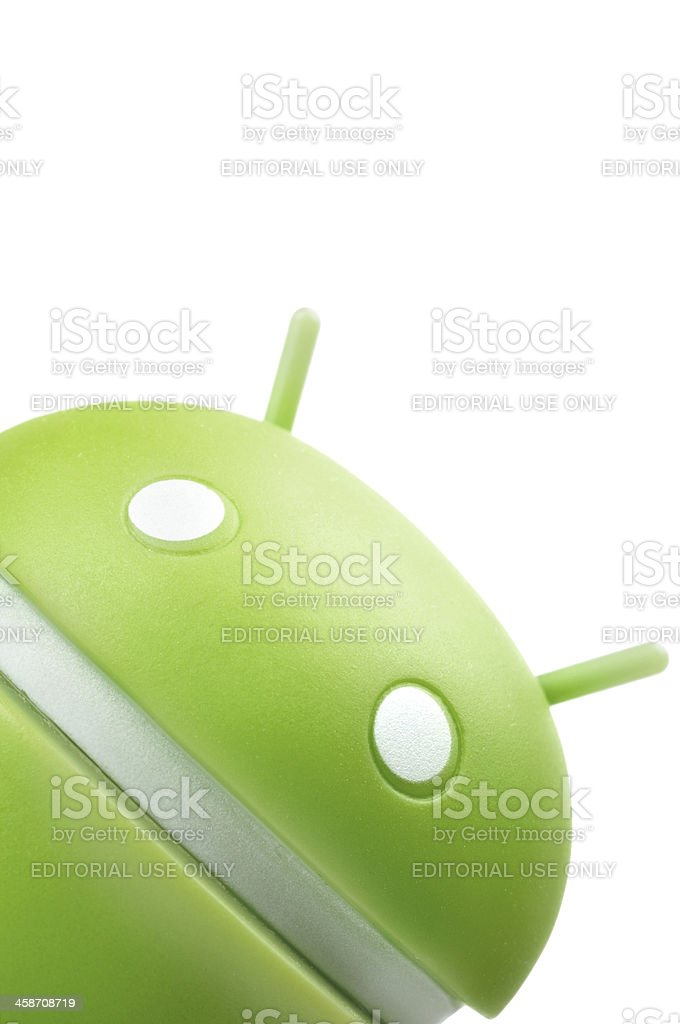 Google Android phone character stock photo