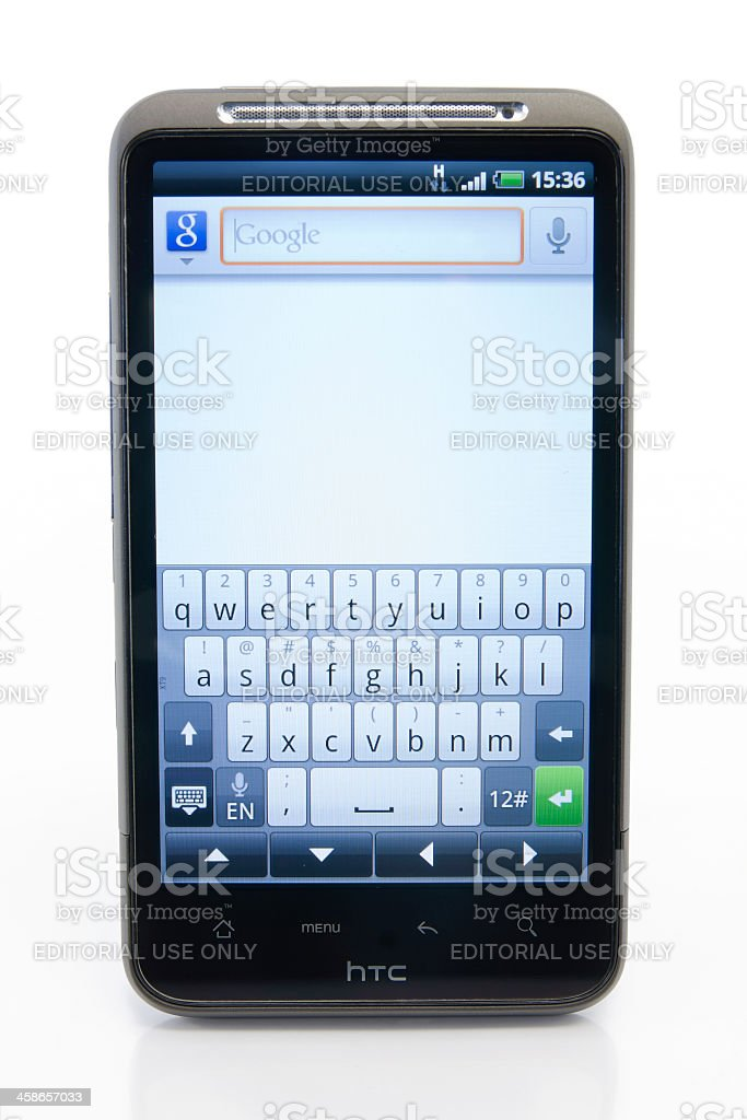 Google Android Smartphone HTC Desire HD stock photo