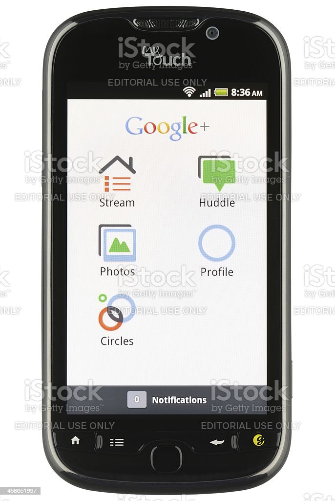 Google+ App on Android stock photo