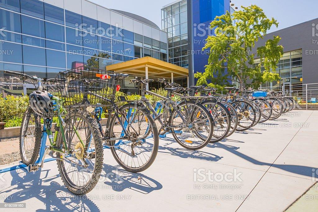 Google bicycle campus stock photo