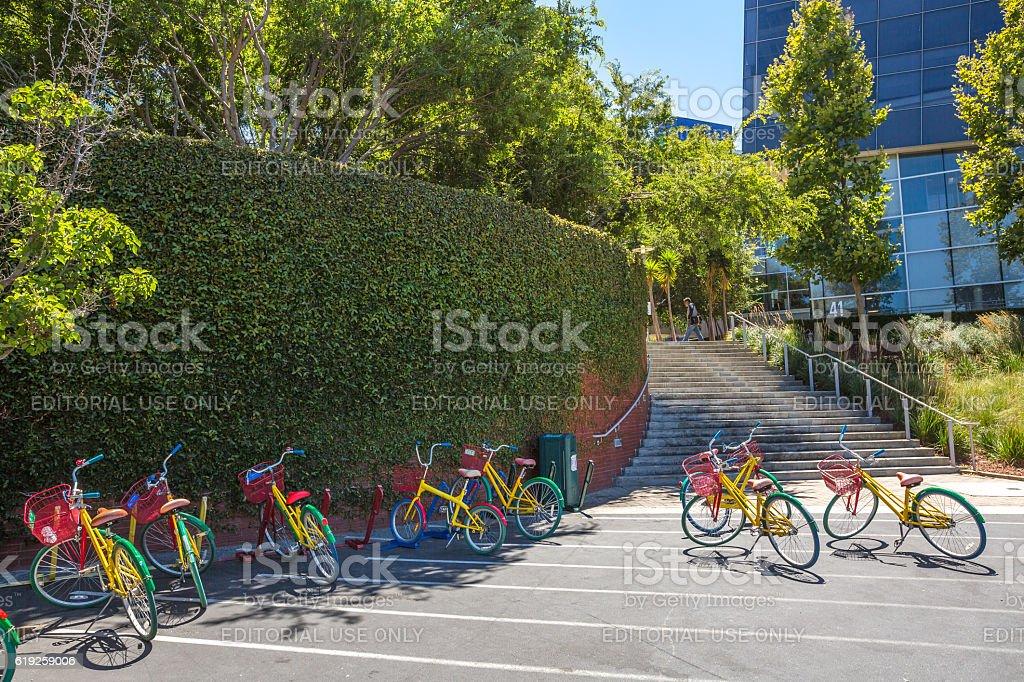 Google colorful bikes stock photo