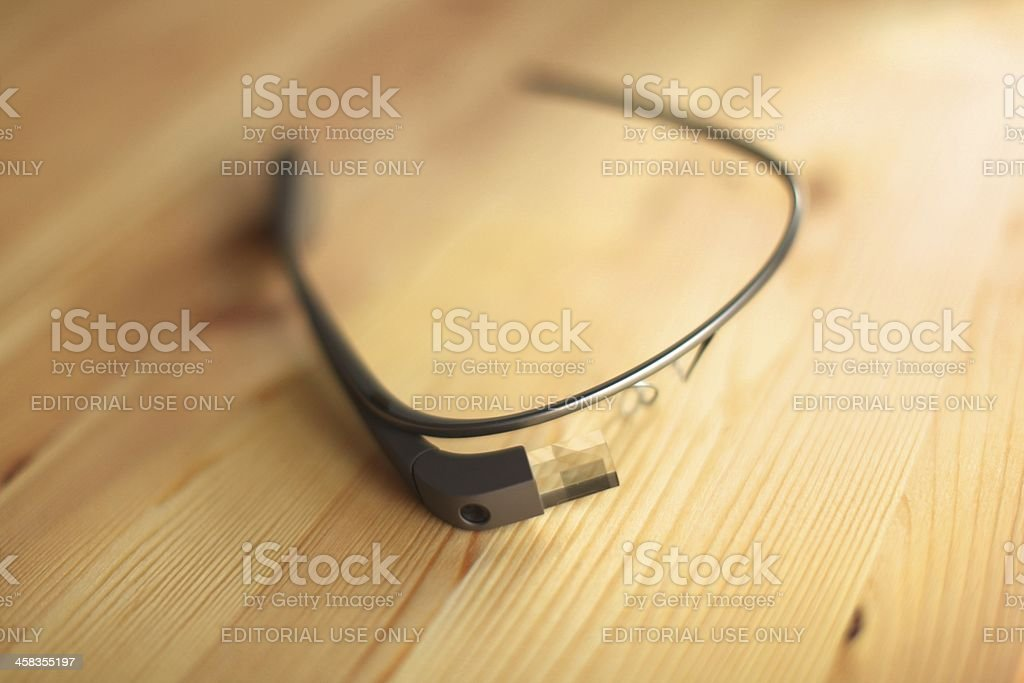Google Glass royalty-free stock photo