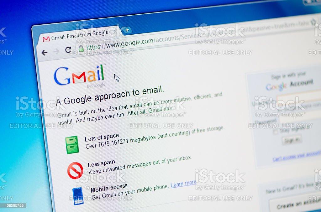 Google Gmail royalty-free stock photo