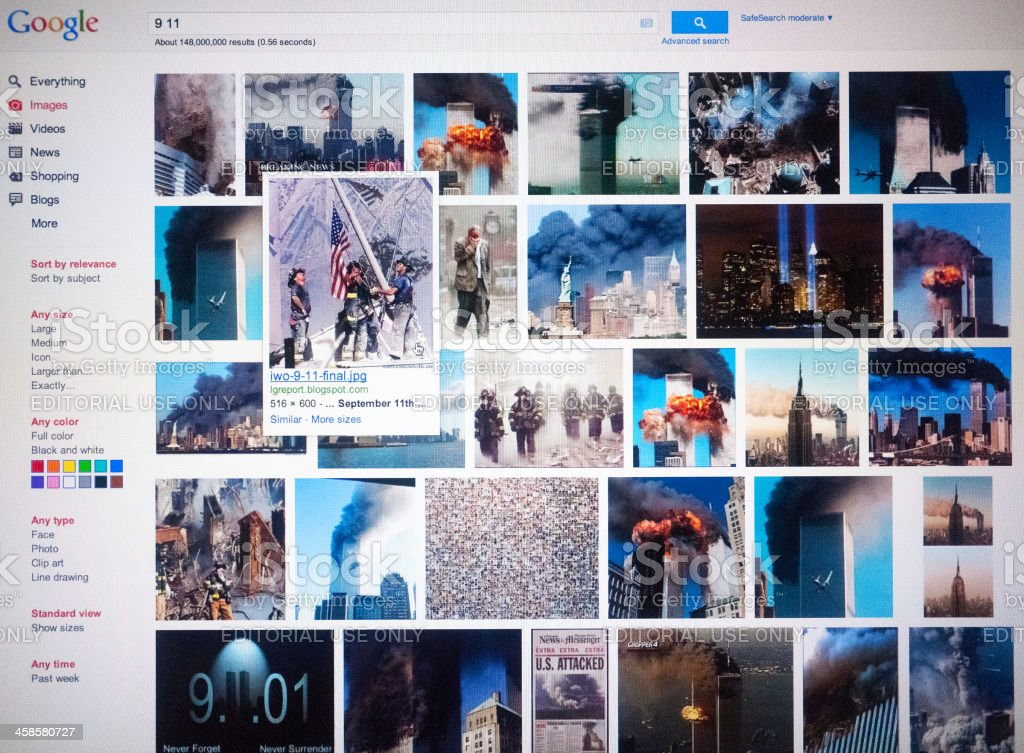 Google Images, 11 September Search royalty-free stock photo