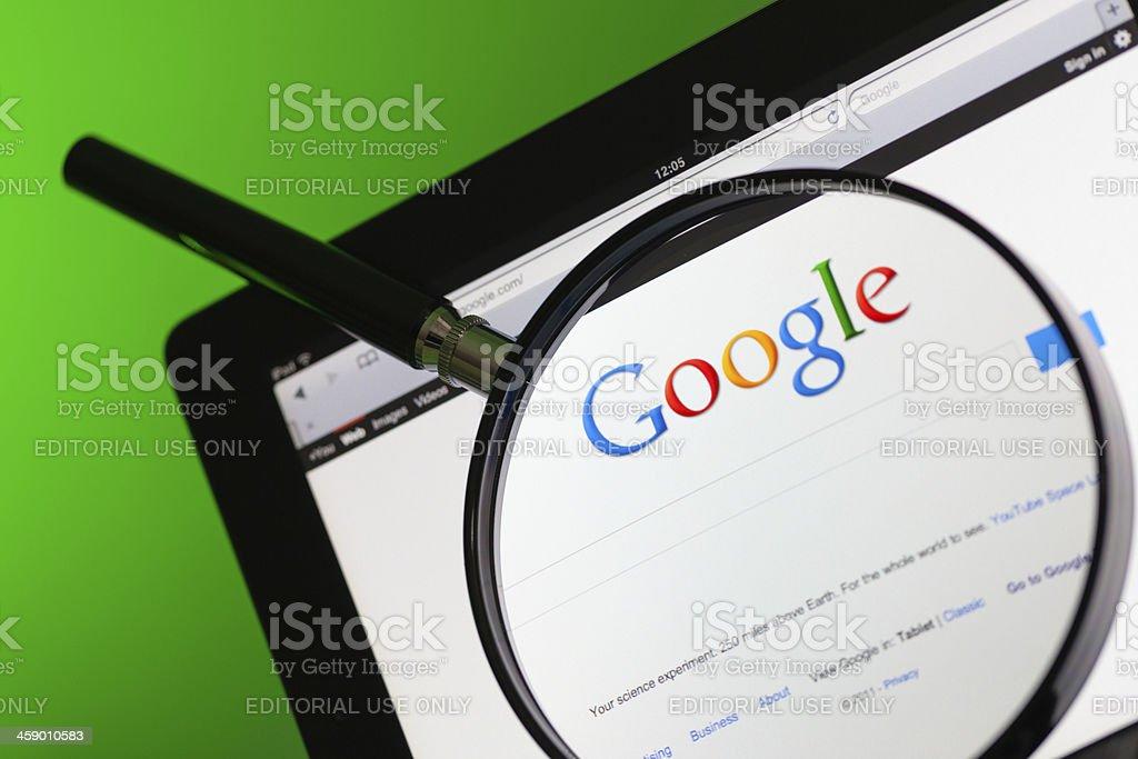 Google Internet Search Website stock photo