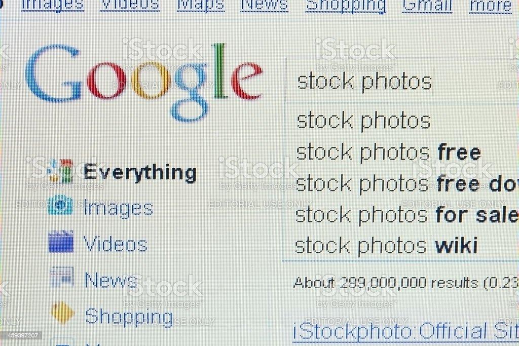 Google logo stock photo