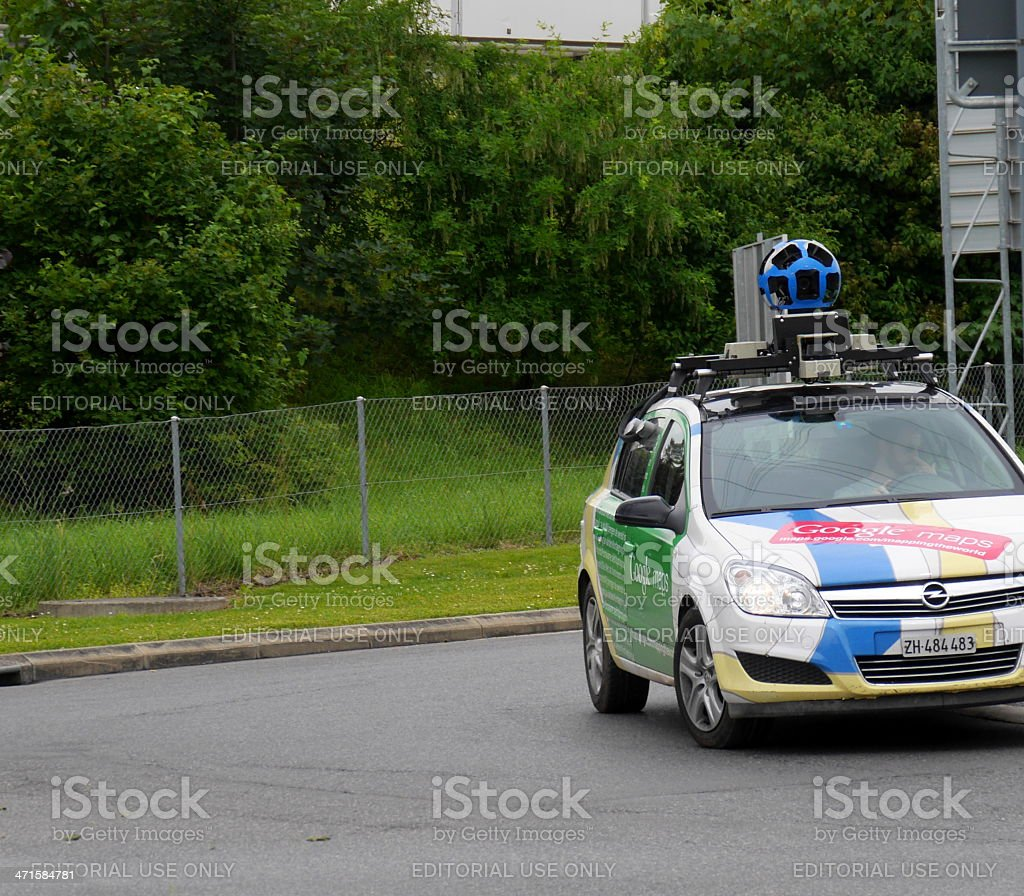 Google Maps car street view stock photo