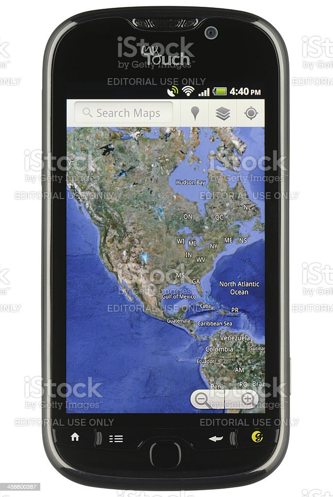 Google Maps on Android royalty-free stock photo