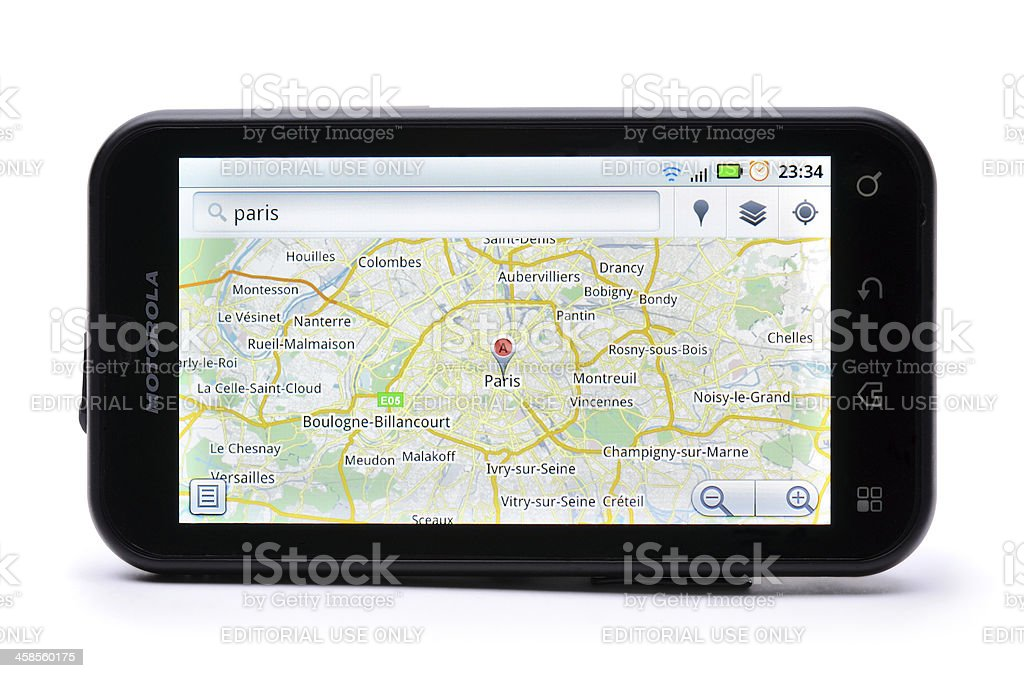 Google Maps stock photo