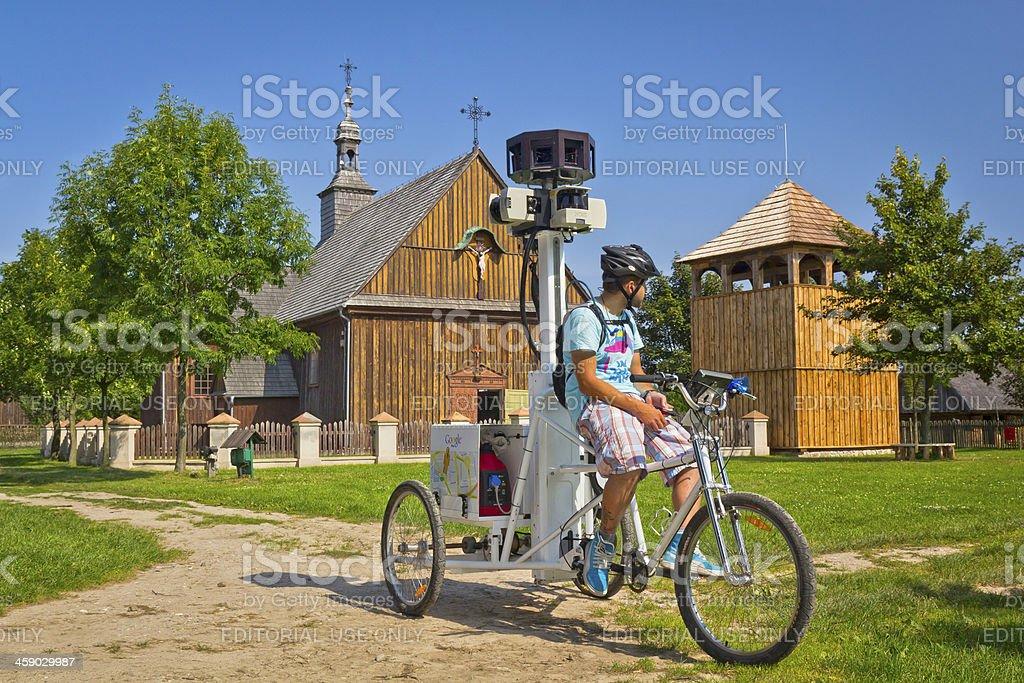 Google Maps Street View Bicycle stock photo