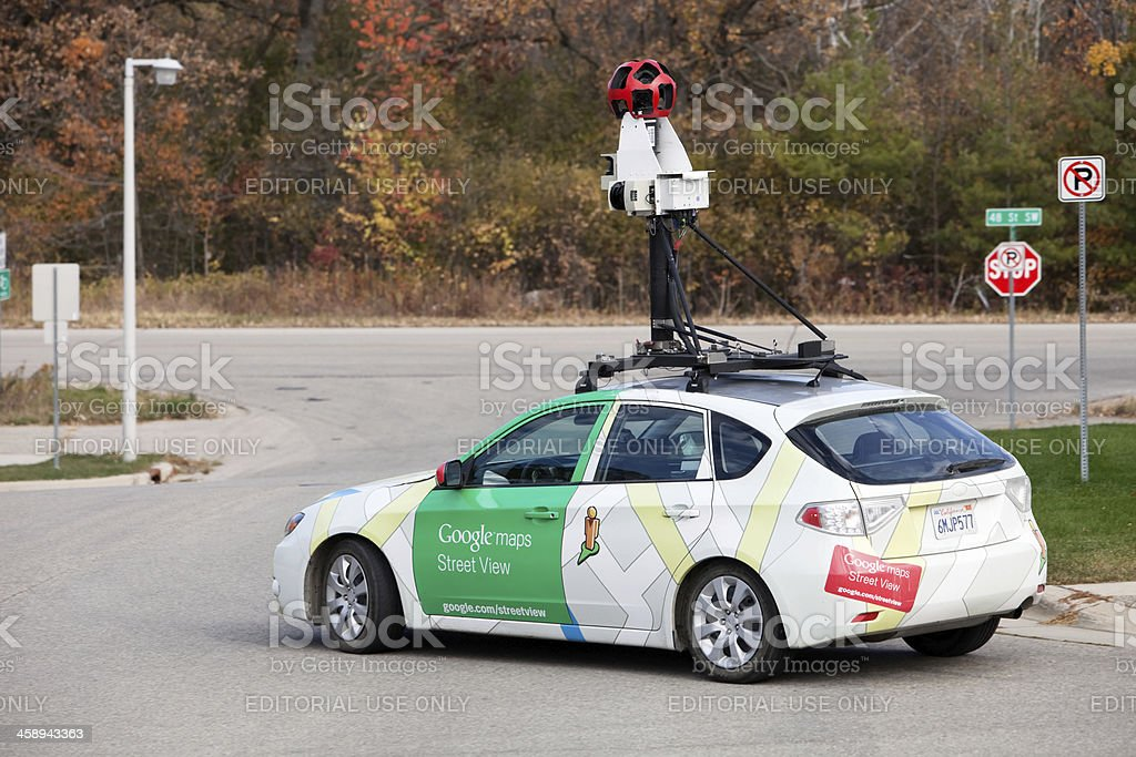 Google Maps Street View Car royalty-free stock photo