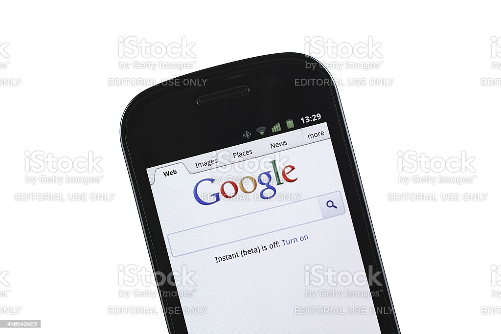 Google mobile site royalty-free stock photo