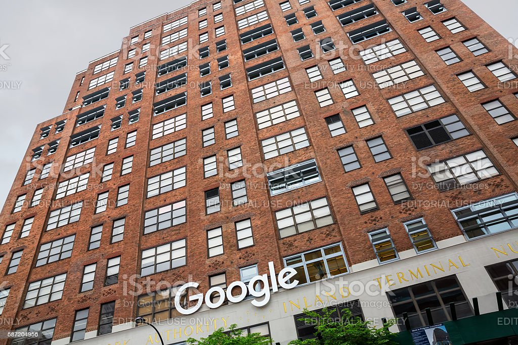 Google New York office stock photo