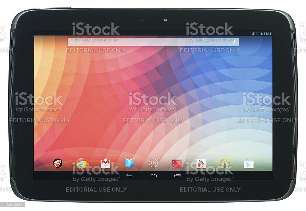 Google Nexus 10 royalty-free stock photo