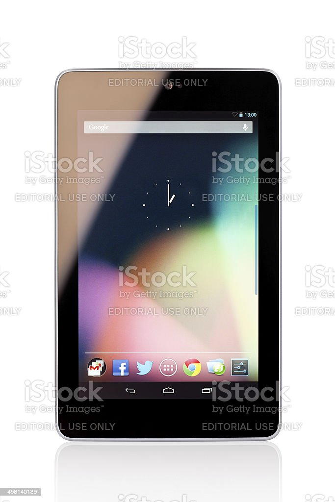 Google Nexus 7 Digital Tablet stock photo
