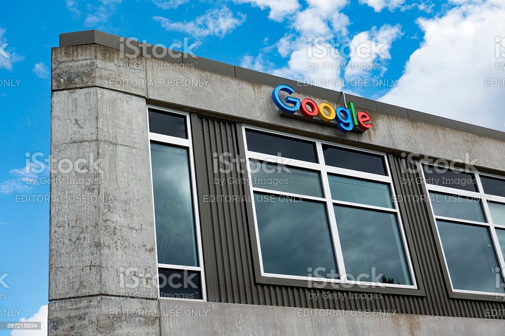 Google Office Building in Seattle, Washington's Fremont Neighborhood stock photo