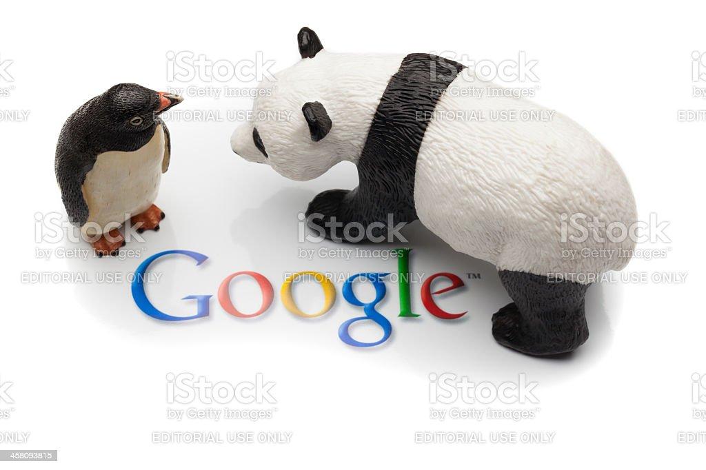 Google Panda and Penguin royalty-free stock photo