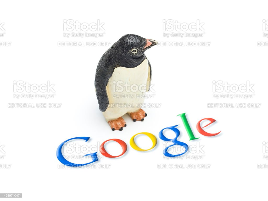 Google Penguin royalty-free stock photo