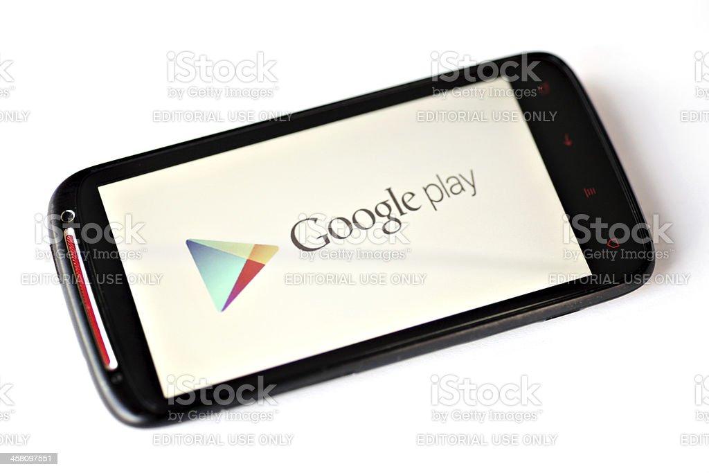 Google Play royalty-free stock photo