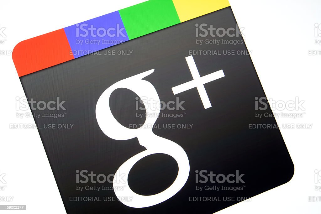 Google Plus Logo stock photo