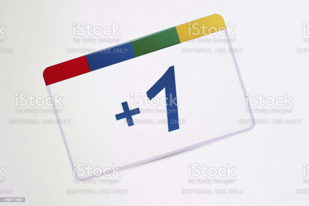 Google Plus One Icon stock photo