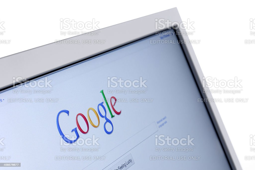 Google Search Bar on a Computer royalty-free stock photo