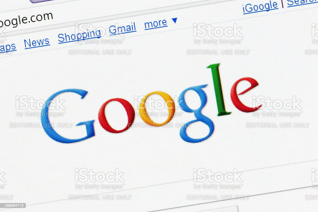 Google search page in the internet royalty-free stock photo