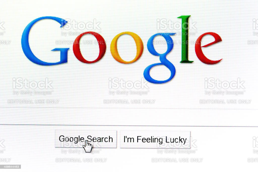 Google search page in the internet stock photo