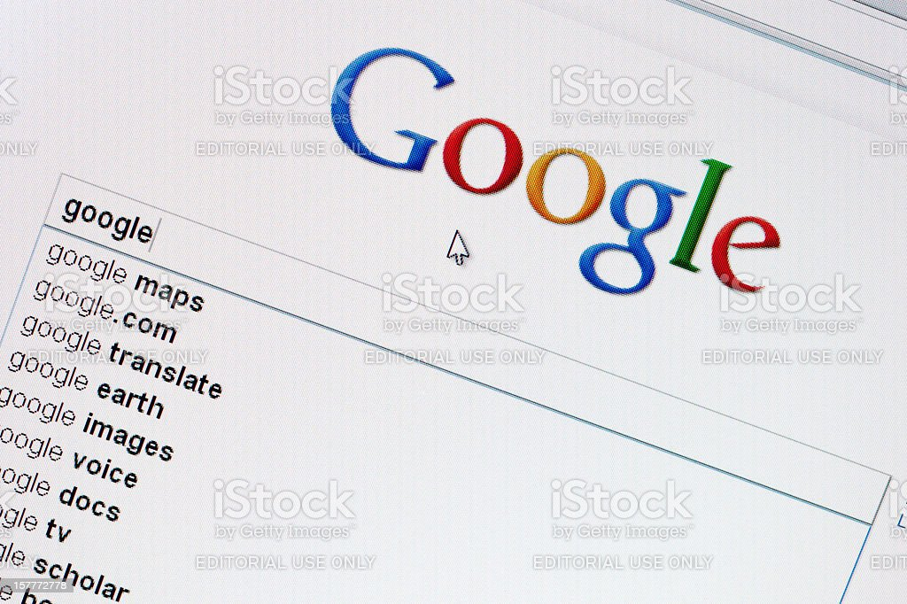 Google search web site in GoogleChrome browser royalty-free stock photo